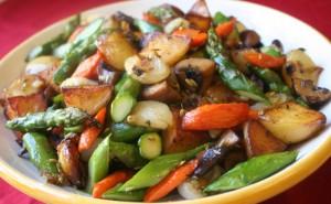 ¿Puede congelar verduras asadas?